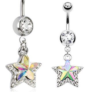 piercing nombril pendentif avec étoile
