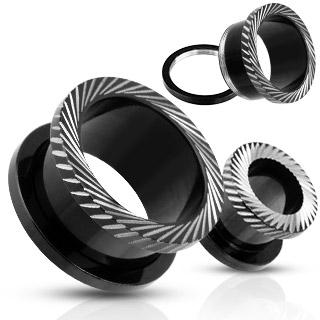 Piercing tunnel en acier noir