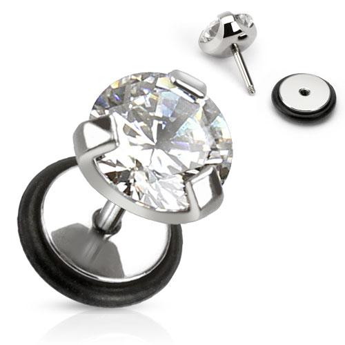 faux piercing en pierre de zirconium