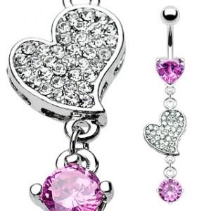 piercing nombril pendentif coeur