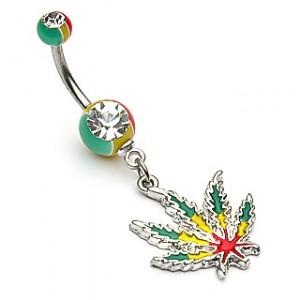 piercing nombril cannabis
