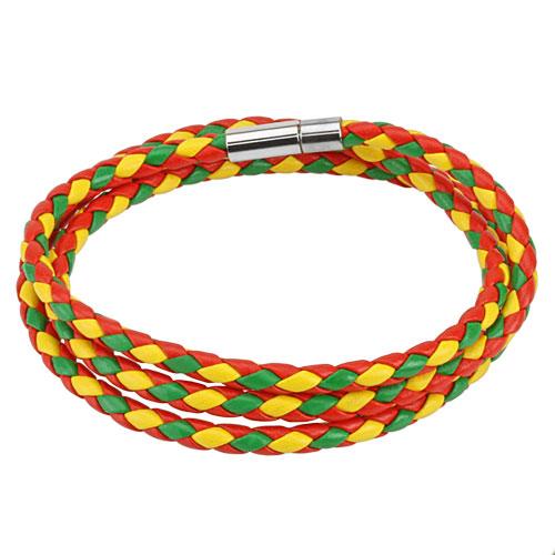 bracelet jaune vert rouge