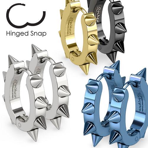 anneaux d'oreilles en acier