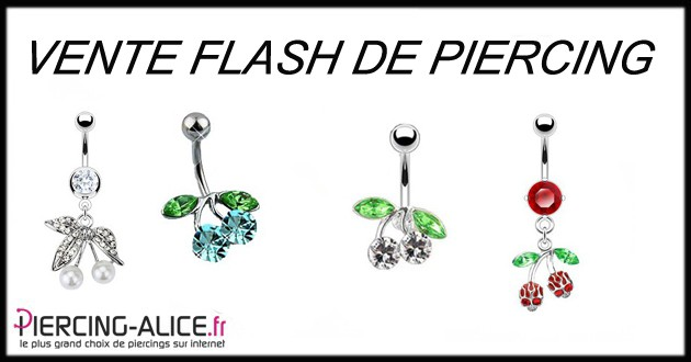 Vente flash de piercing pas cher et de qualit - Code de reduction alice garden ...