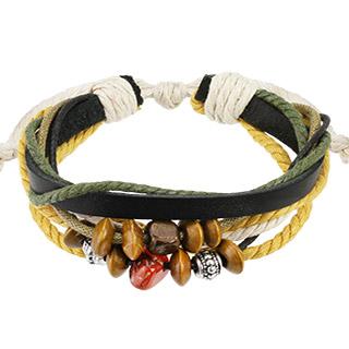 bracelet en cordes et perles