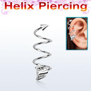 piercing d'oreille hélix