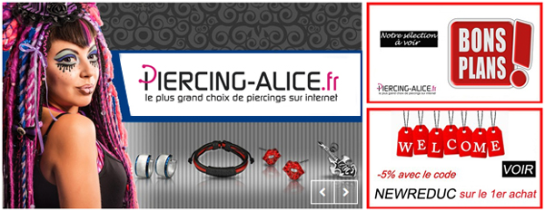 Vente de Piercings chez PIERCING ALICE