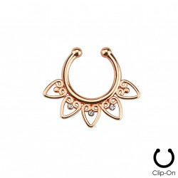 Faux piercing septum or rose
