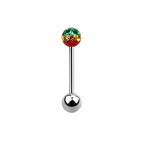 piercing langue 16mm rasta cristal kowa piercing le blog de piercing. Black Bedroom Furniture Sets. Home Design Ideas