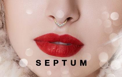 Piercing de nez septum